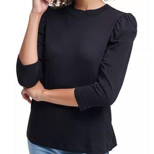 Calvin Klein mock neck puff sleeve Black XS